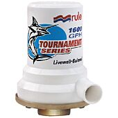 Rule 12V Tournament Series Livewell/Aerator Pump 1600 GPH